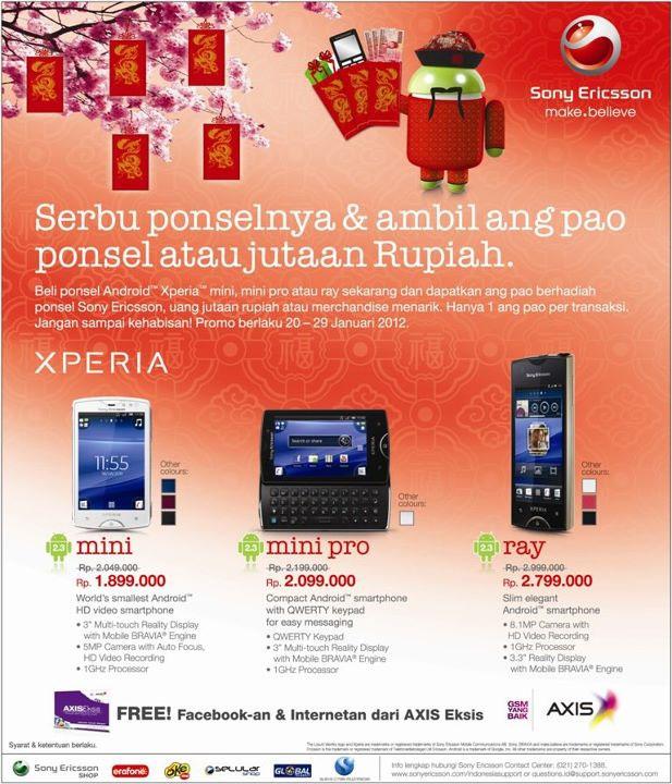 Menyambut tahun baru Cina atau Imlek, Sony Ericsson memberi hadiah