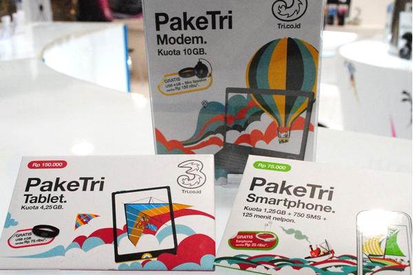 Paket Internet 3 untuk modem,tablet dan Smartphone.