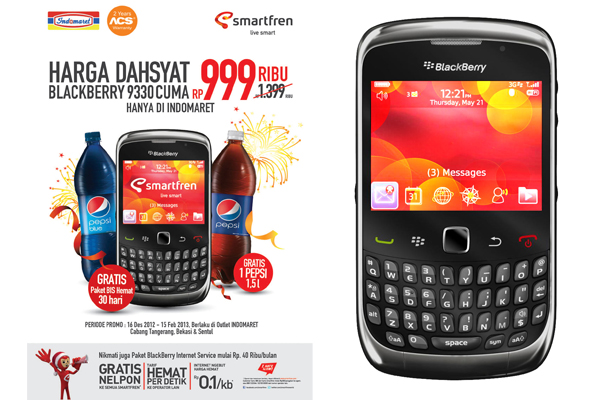 Photo of Paket BlackBerry & promo BB 9330 dari Smartfren