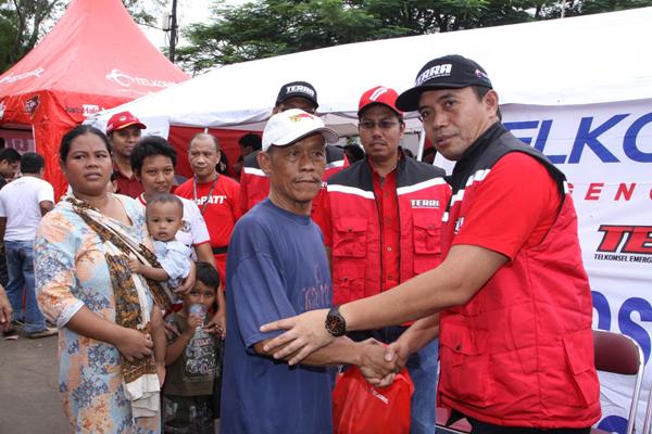 Posko Besar Telkom Group di Wilayah Banjir Jabotabek