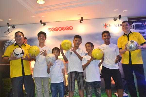 5  Anak Indonesia Bertemu Messi  di Doha Qatar