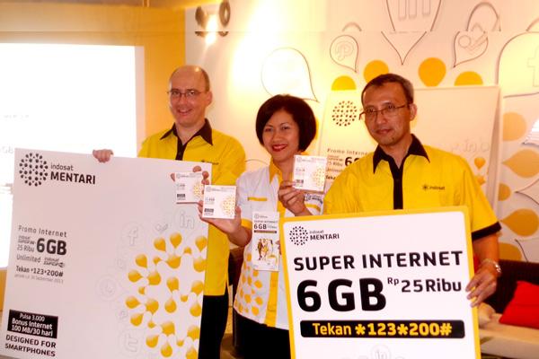 INDOSAT MENTARI SUPER INTERNET Internet Kuota 6 GB hanya Rp 25 Ribu