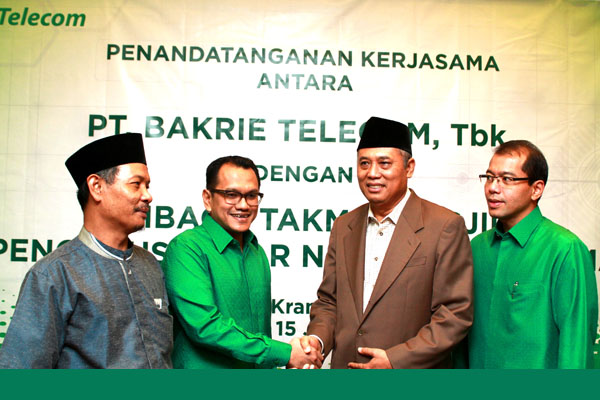 Bakrie Telecom Kerjasama dgn Nahdlatul Ulama (NU)