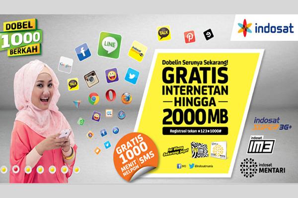 Photo of PROGRAM DOUBLE 1000 BERKAH Gratis Internetnya hingga 2000MB