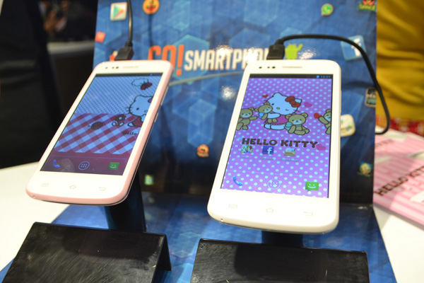 Cross A75  Smartphone Girly untuk penggemar Hello Kitty