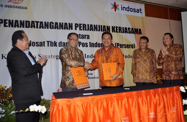 PEMANFAATAN INFRASTRUKTUR & LAYANAN BERSAMA  INDOSAT GANDENG POS INDONESIA