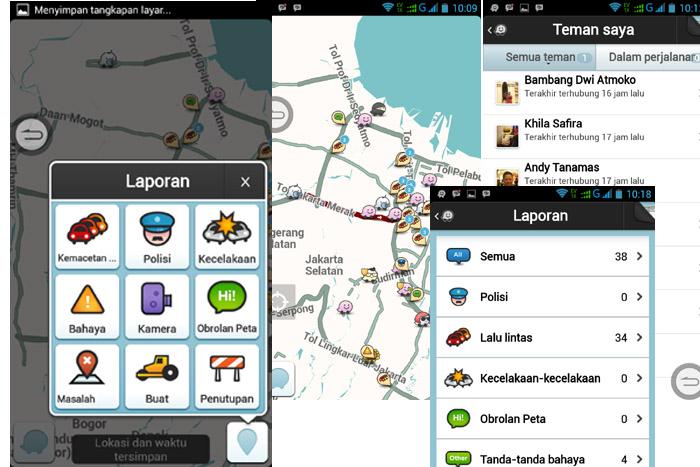 Berbagi Informasi di jalan Dengan Aplikasi Waze