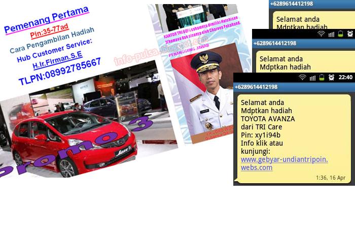 Tri Laporkan ke Polisi Pelaku Penipuan SMS & Pemalsuan Situs Tri