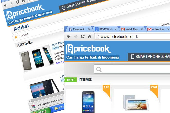 Pricebook, Situs Pembanding Harga Gadget bagi konsumen di Indonesia