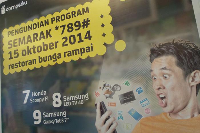 Lakukan berbagai transaksi, Dompet ku dari Indosat