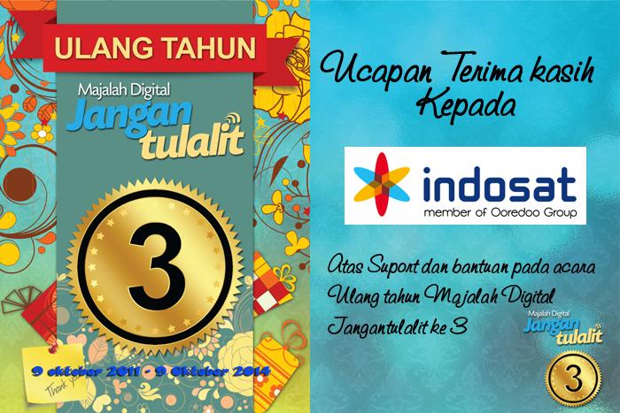 Terima kasih untuk Indosat