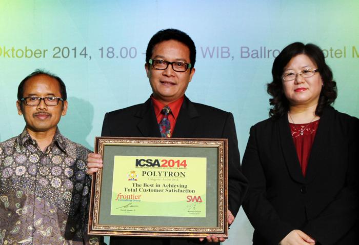 Berhasil memuaskan pelanggan Polytron Meraih ICSA 2014
