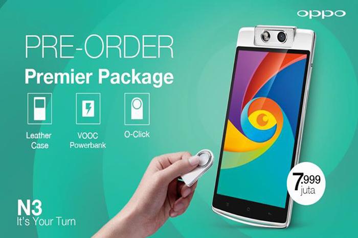 OPPO N3 mulai masa pre-order dengan Harga Rp. 7.999.000,-