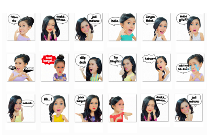 "Wow  Stiker Animasi Cita Citata  ""Sakitnya Tuh Disini"" Hadir di WeChat"