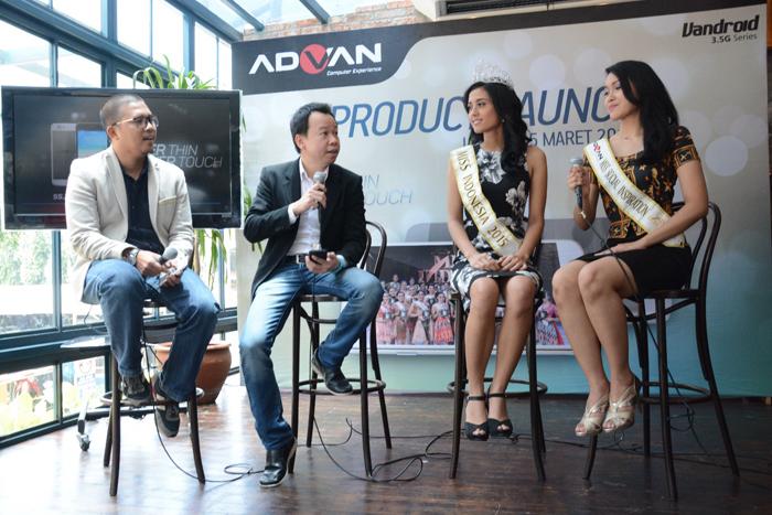 ADVAN menghadirkan Smartphone Tipis dengan menggandeng Miss Indonesia 2015