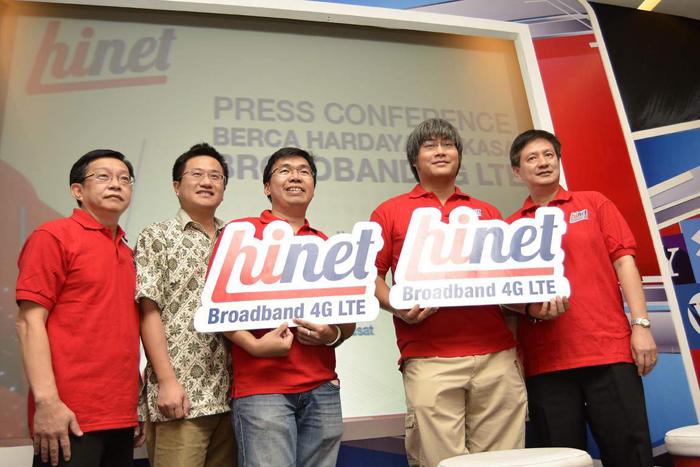 PT Berca Hardayaperkasa memperkenalkan produk 4G LTE Hinet