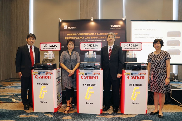 PIXMA Ink Efficient G-Series, Printer Generasi Baru dengan Sistem Tangki Botol