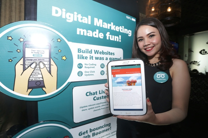 Boomer Marketing, Aplikasi Mobile Digital Marketing Global berbahasa Indonesia