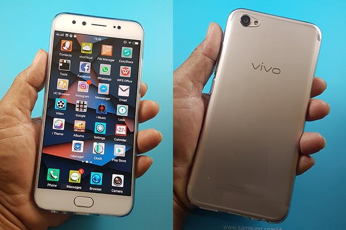 ViVo V5 Plus tampak depan belakang ok