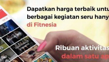 Fitness Lebih Mudah, Asyik dan Murah Karena Aplikasi Fitnesia