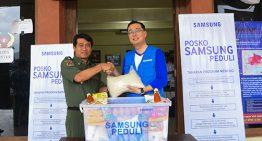 Melalui posko SamsungCare, Samsung lakukan layanan Cuci Gratis Di Tiga Titik Pengungsi Gunung Agung Bali