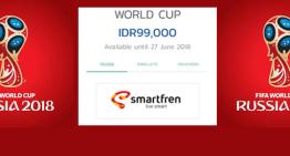 Tonton Piala Dunia 2018 dengan Jaringan 4G LTE Smartfren via KlixTV mulai Rp 99.000,-