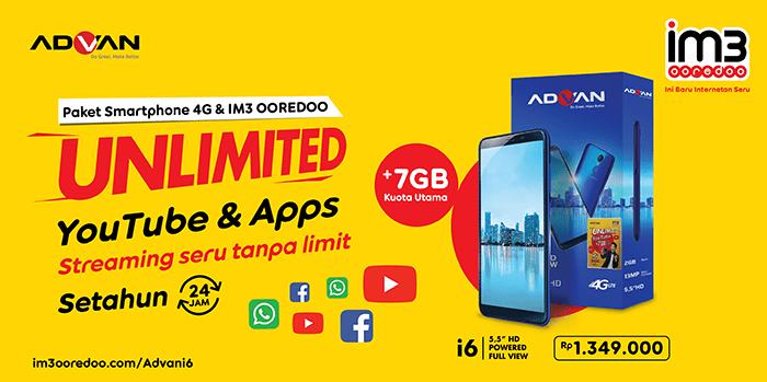 Foto 1_IM3 Ooredoo Unlimited YouTube & Apps dan Paket Smartphone 4G ok
