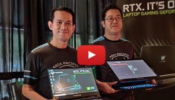 Laptop Gaming Predator Triton 900 Convertible dengan Layar 4K G-sync dan Predator Triton 500, Ultra Thin, Bertenaga nan Gahar