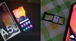 Review Samsung A50 :  Samsung kelas Menengah . Memiliki  fitur mewah.   Dipake buat Ngegame  oke, fitur  kameranya  Oye !
