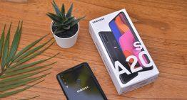 Samsung Galaxy A20s Smartphone mewah dikelas Entry Level, dengan spesifikasi mumpuni dan desain yang Elegan.