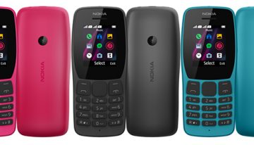 Nokia 110 hadir dengan bentuk handset menarik dengan fungsi musik, game, dan keperluan sehari-hari serta Ketahanan baterai