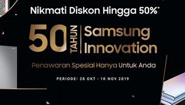 Menandai 50 Tahun Inovasi Samsung Beri Penawaran Khusus bagiKonsumen Setia di Indonesia